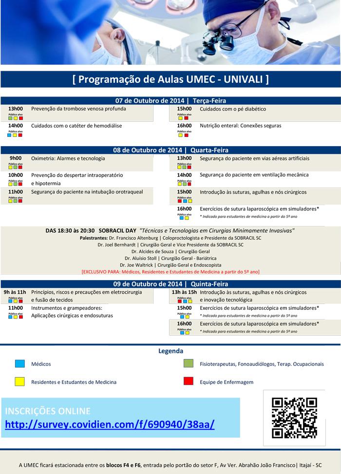 Agenda-UMEC-Univalli-Itajai-SC